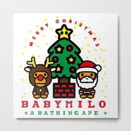 baby milo christmas Metal Print