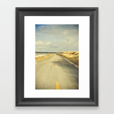 The Road to the Sea Framed Art Print