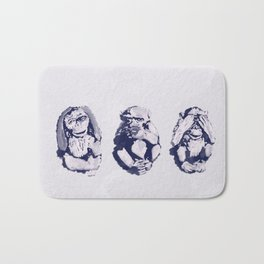 The Monkeys That Don't Speak or See Bath Mat
