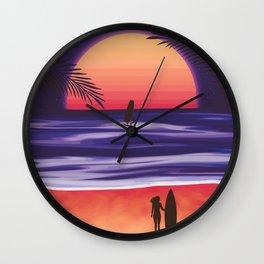 Beach Break Wall Clock