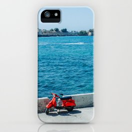 Red Scooter in Crete  iPhone Case