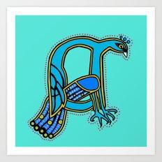 Peacock letter A 2017 Art Print