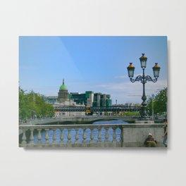 Dublin Ireland Bridge Print Metal Print