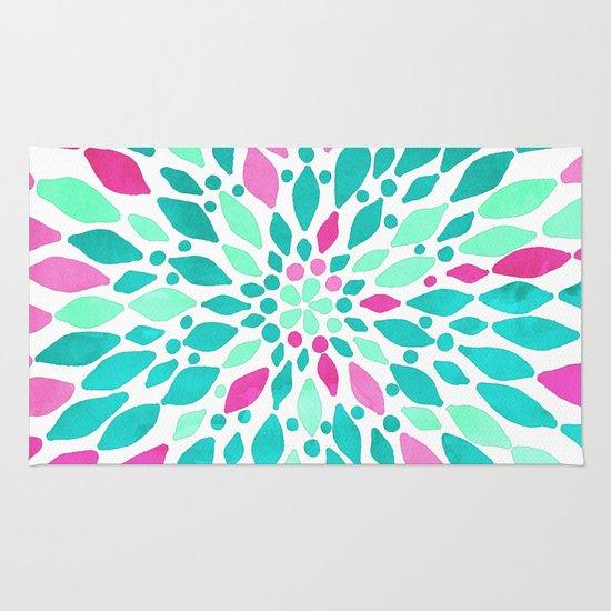 Mint, Teal, Magenta, Pink Watercolor