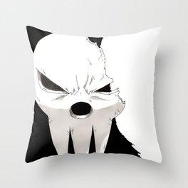 Shinigami Broken Mask Throw Pillow