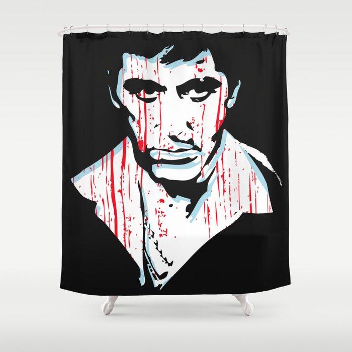 Scarface Movie Portrait Shower Curtain