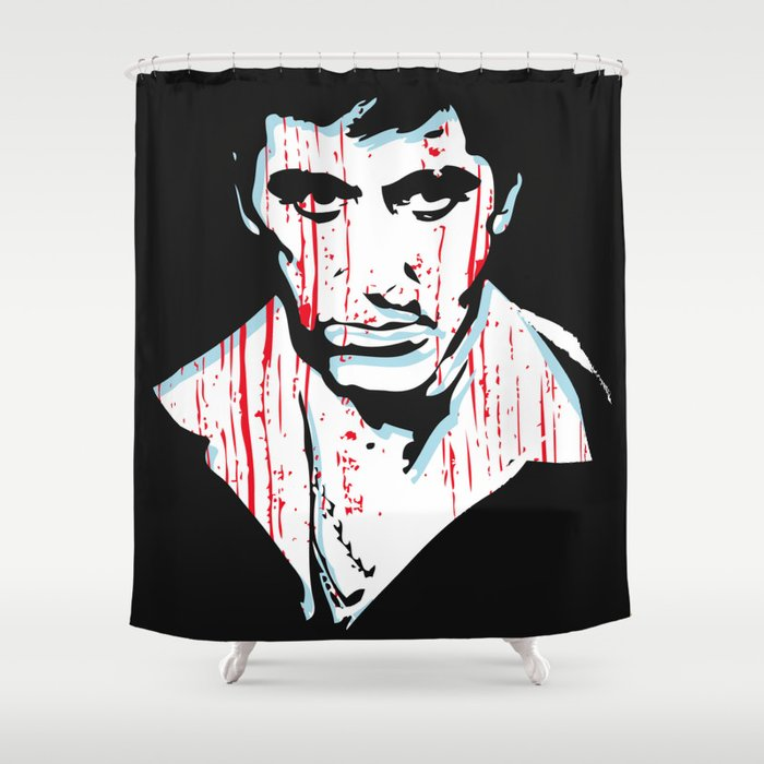 Scarface Movie Portrait Shower Curtain