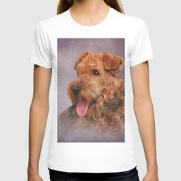 Drawing Airedale Terrier dog T-shirt