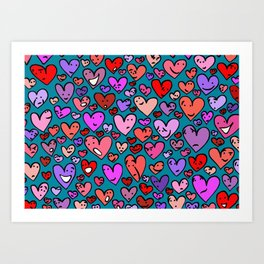 #MindfulHearts #faces Art Print