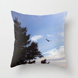 Mid flight Throw Pillow