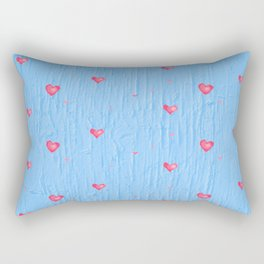Floating Hearts Abstract Rectangular Pillow