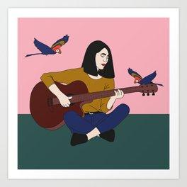 Douce mélodie Art Print