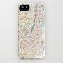 Vintage Map of Jersey City and Hoboken (1886) iPhone Case