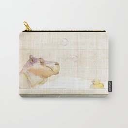 Hippo in the bath Carry-All Pouch