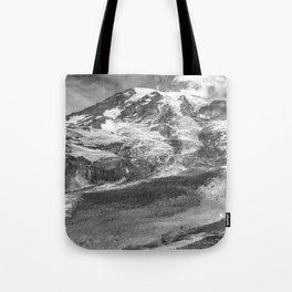 Glaciated Mount Rainier Tote Bag