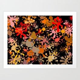Fun Brown Paint Splats Art Print