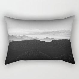 Mountains in the morning mist Rectangular Pillow