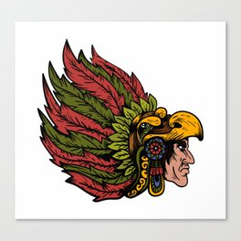 Indian Chieftain Head Illustration Canvas Print