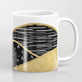 Gold Sun, digital surreal landscape Coffee Mug