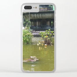 NYC Central park Bethesda fountain Clear iPhone Case