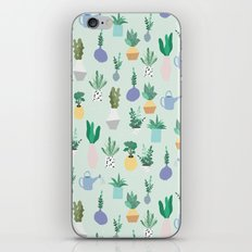 Plant pot Pattern iPhone & iPod Skin