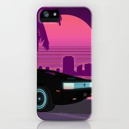 Neon Testarossa iPhone Case