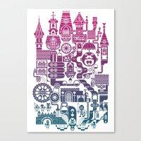 castle Canvas Prints featuring Castle Mama by C86 | Matt Lyon