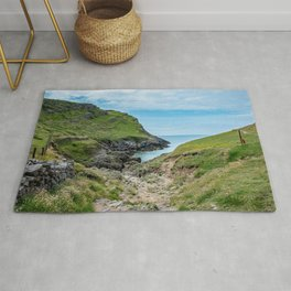 Footpath to Mewslade Bay on the Gower, Wales Rug