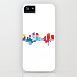Houston Cityscape Watercolor iPhone Case