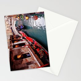 Gondolas On A Small Venetian Canal Stationery Cards