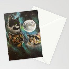 Three Cat Moon Stationery Cards