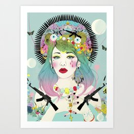 The Curious Girl Art Print