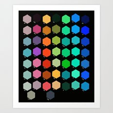 Darth Color Chart Art Print