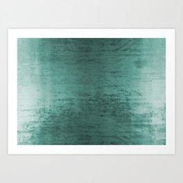 Worn Teal Velvet Art Print