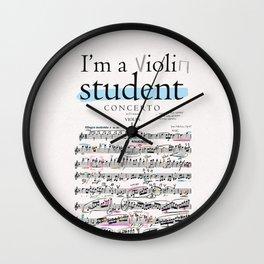 Violin student Wall Clock