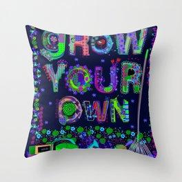 Grow Your Own Throw Pillow