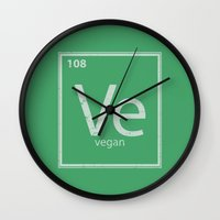 vegan Wall Clocks featuring VeGan by Eddie Loven