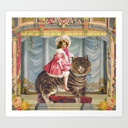 The amazing Catgirl Art Print