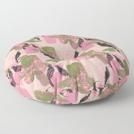 Huias and Proteas Floor Pillow