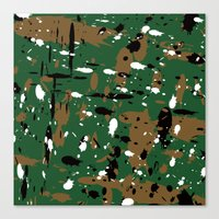 camo Canvas Prints featuring camo by Panic Junkie