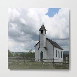 November Rain Church Metal Print