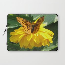 Butterfly Floral Laptop Sleeve