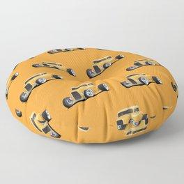 Classic American 32 Hotrod Car Illustration Floor Pillow