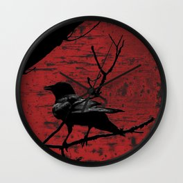 Crow Rust Industrial Red A673 Wall Clock