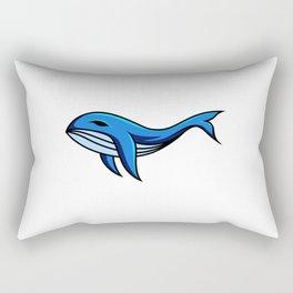 Blue Whale Fish Mascot Sport Gaming Esport Logo Template Squad Team Rectangular Pillow