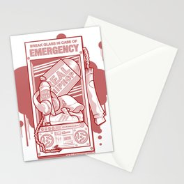 Emergency Hip Hop Red Stationery Cards