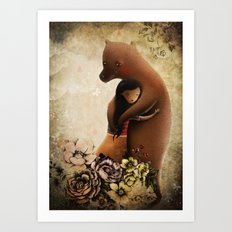 Bear with me... Art Print