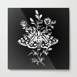 butterfly black Metal Print