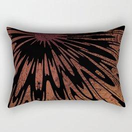 Native Tapestry in Burnt Umber Rectangular Pillow