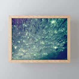 Ice Bubble Explosion Framed Mini Art Print